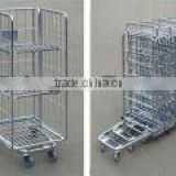 3sided A frame foldable roll container, roll cages