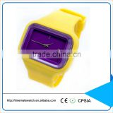 Favor waterproof watch cheap wholesale silicone watch coloful dial and strap fashion watch silicone rubber watch