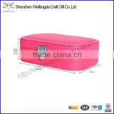 pink faux leather case for women jewelry gift box packaging chinese made