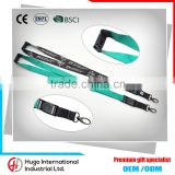 Newest custom 100% polyester printing safety hook id card holder lanyard                                                                                                         Supplier's Choice