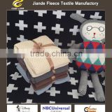 Cotton knitted baby in Europe and the joker shawl wool blanket Thin air conditioning nap baby blanket wholesale