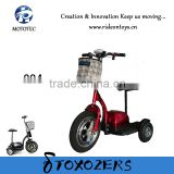 Mobility scooter not fold bike 36V12A lead acid battery new three wheel with basket tricycle