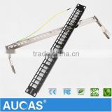 Wall Mount FTP RJ45 Blank Patch Panel with 24 Ports Network Cabling Accessories