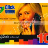 Top Grade Full Color Printable prepaid mobile scratch card