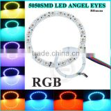 2x 4x 6x DC12 80mm 60mm 40mm full / semi cirle Colorful red blue green orange angel eyes for E46 Angel eyes led ring light