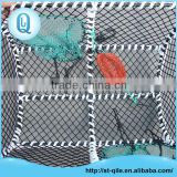 Professional aquaculture trap two holes metal frame fishing crab trap nets