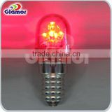 12V decorative bulb,E14 mini bulb,colorful pc cover