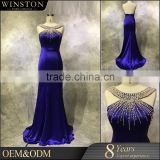OEM ODM customized high neckline keyhole back beautiful evening gowns for girls