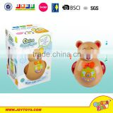 Popular Electric set plastic funny cartoon animal musical tumbler toy