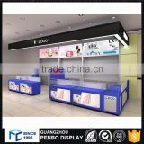 Factory derect sale wood glass mobile phone charging kiosk