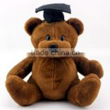 graduation teddy bear&plush toy/ graduation stuffed animals,custom graduation plush bear