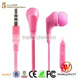 Wallytech Original WHF-119 Colorfully cool in ear Earphone & headphon with Microphone & Volume remote for Samsung Galaxy s4