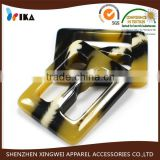 fashion polyester resin trench coat buckles for belt