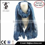 2016 Spring Winter desigual scarf women fashion long Echarpe Flower printed scarves with flocking