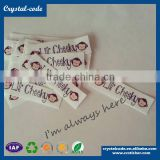 Personalized diy iron printed custom washable fabric label                                                                         Quality Choice