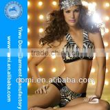 Yiwu Domi 2014 new design open two piece sequins bikini xx photo,adult animal and women,hot sexy girl photo