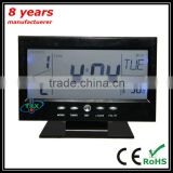 China Factory OEM Supply Multifunction LCD Clock With Thermometer, Digital LCD Alarm Desk Clock Calendar Thermometer