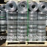 galvanized woven wire field fence, sheep wire fence with post, grassland fence specification