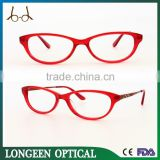 Red new fashion eyeglasses, italy design red reading glasses