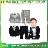 Hand made design custom tuxedo flower boy baby suit OEM