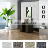 slate mosaic, crystal glass mix stone mosaic tile for home interior decoration (PML154870~73)