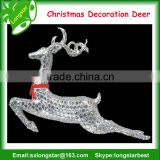 Life Size Silver Plated Christmas Deer Statue Ornaments