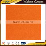 Orange plain exhibition fire-resistant cheap velour carpet