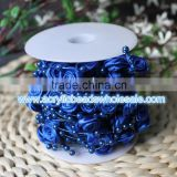 new 10M Ribbon roses Pearl Bead Garland Wedding Decoration Beads Wedding Centerpiece Decoration Wedding Bouquet