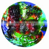 a kylin style color crystal wall relief--JC039