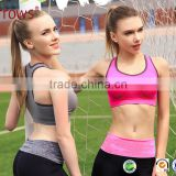 Lady's Level High Impact Racer Back Wirefree 5 Colors Sports Bra Breast Body Shaper