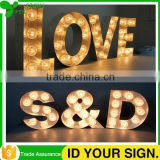 Indoor Decrative Led Wooden Letter Standing