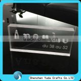 customized 3D acrylic logo block with engraving, CNC routing perspex brand block for sale