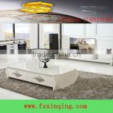 C332 living room furniture glass top wood coffee table