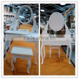 White Lacquer Bedroom Furniture K/D White Dresser Solid Wood Dresser Designs For European Market T10-6112