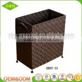 China supplier customized stackable nylon woven hamper collapsible folding laundry basket