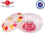 2014 best products colorful Nice looking glassware crystal clear glass candy bowl for candy fruit