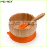 Colorful Round Baby Bowl, Spoon Bowl Cup Bamboo Eco-Friendly Baby Dinner Set/Homex_Factory