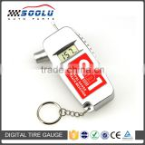 Portable 2 in 1 Digital Tire Tread Depth Gauge Electronic Tyre Pressure Gauge