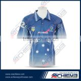 Custom made team logo and name cricket jersey sublimation printing