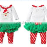 new 2015 girls christmas clothing kids santa claus outfits children christmas days clothes