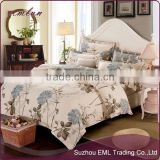 hand made Wholesale elegant silk cotton jacquard bedclothes four bedding sets EML-12-W1009
