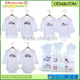100% organic cotton romper gift Baby clothes romper bodysuit 2pcs/set