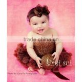 Girls Brown Crochet Tube Top Photo Prop 12M-3 Years
