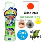Safe deet mosquito repellent insect repellent spray for baby and kids 160ml made in Japan