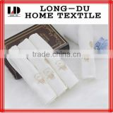 hot sale bear pattern cute white cotton gauze handkerchief