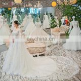 gt902 2017 luxury high quality cape white muslim lace bridal gown muslim wedding dress