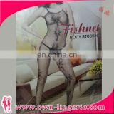 Sexy open crotch Fishnet and Lace Crochet Body Pantyhose bodystocking