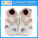 Baby Girl 0-4 Years Soft Sole Genuine Leather White Sun Flower Pattern Shoes