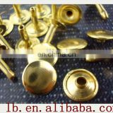 7mm silver/gold/brass.. 2013 new fashion high quality Metal Leather Belt double 5mm snap cap rivet button