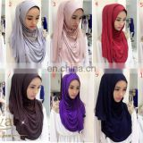 Welcome dubai style muslim hijab islamic shawl for hot sale popular tudung